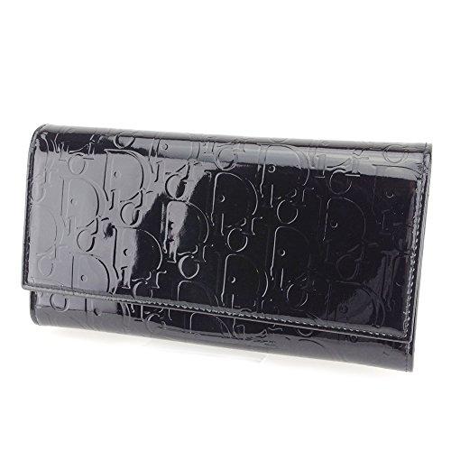(ディオール) Christian Dior 長財布 ファスナー付き 長財布 ブラック トロッター レディース 中古 T7460