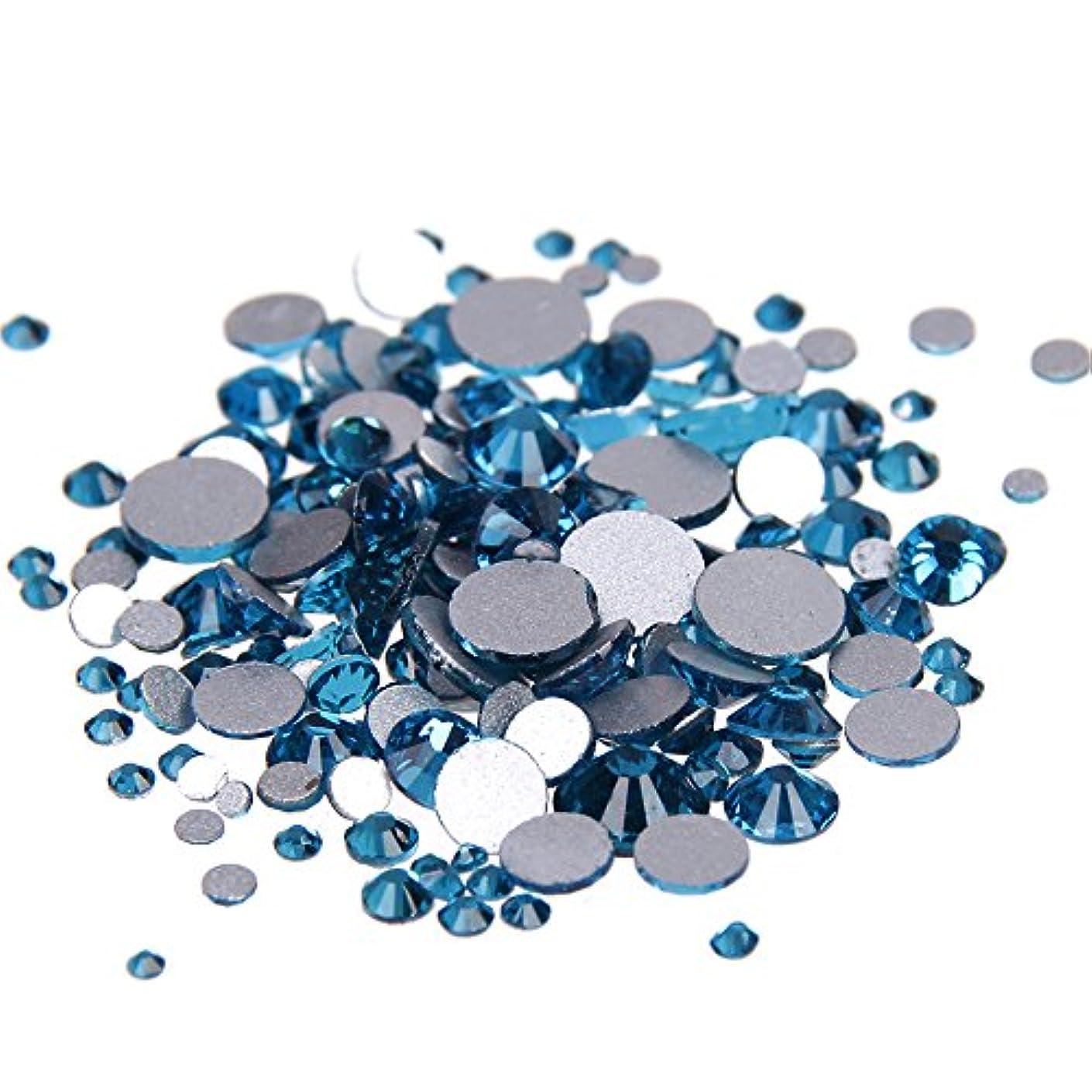 ドループ乱暴な原告Nizi ジュエリー ブランド ブルージルコン ラインストーン は ガラスの材質 ネイル使用 型番ss3-ss34 (SS20 1440pcs)