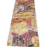 桜楓 帯 テーブルランナー テーブルセンター 外国人の方に 日本 お土産 M008 A table center made of the antique obi.