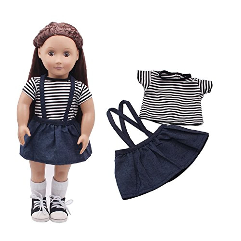 Wffo 人形用衣装 ドレス衣装 18インチのアメリカンガール Our Generation人形用衣装セット Wffo - toy