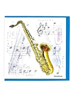 Little Snoring Gifts: Notelets Pack Of Five – Saxophone Design. For サクソフォン
