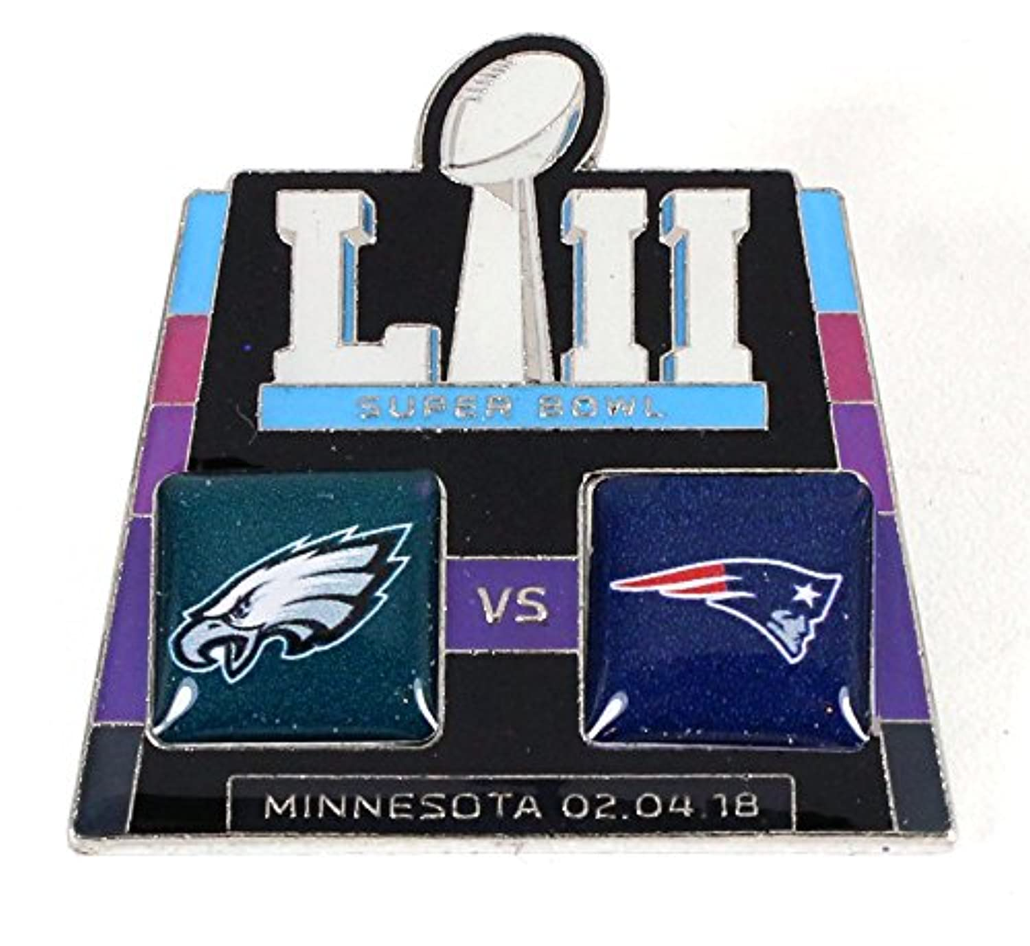 Super Bowl LII ( 52 ) Patriots vs. Eaglesヘッドtoヘッドピン