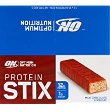 Optimum Nutrition Protein Stix Bars Nougat, 35 Grams, 12 Pack Protein Bars