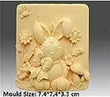 Mushrooms Rabbit Silicone Fondant Cookie Cake Decorating Baking Mold Tools