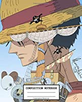 Composition Notebook: One Piece Glossy Cover Wide Ruled Blank Lined Soft Cover Journal Paper 7.44 x 9.69 Inches 110 Pages