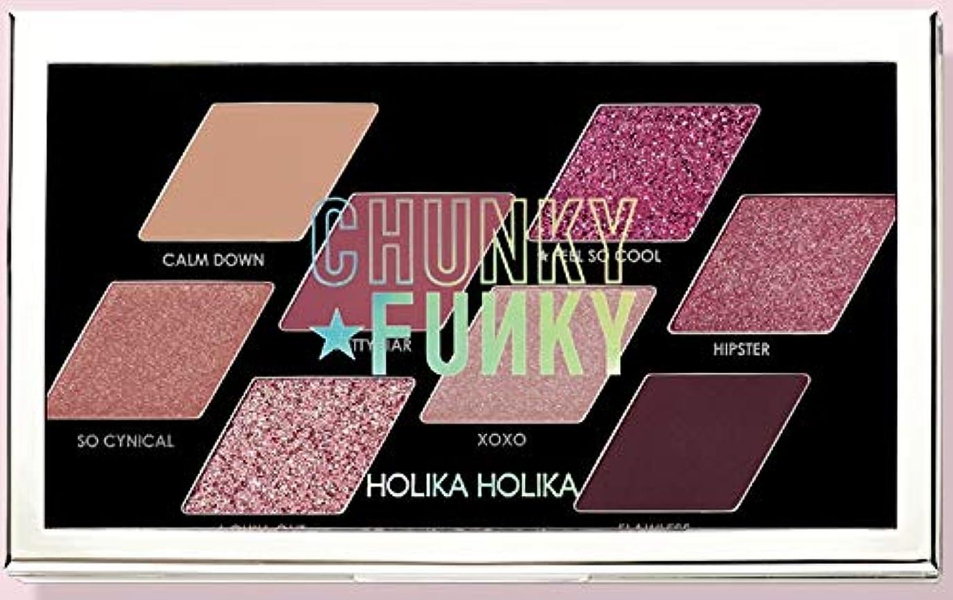 埋め込む縫う実現可能性Holika Holikaホリカホリカ韓国チャンキーメタルシャドウパレットフィールソークール 韓国の人気ブランドのアイシャドウトレンディな発色の美しさの女性