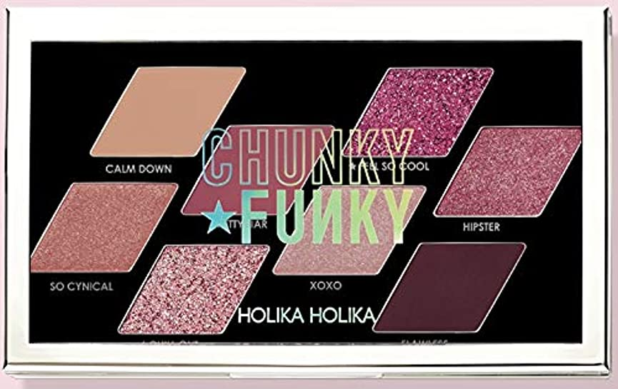 賠償オッズ論理的にHolika Holikaホリカホリカ韓国チャンキーメタルシャドウパレットフィールソークール 韓国の人気ブランドのアイシャドウトレンディな発色の美しさの女性
