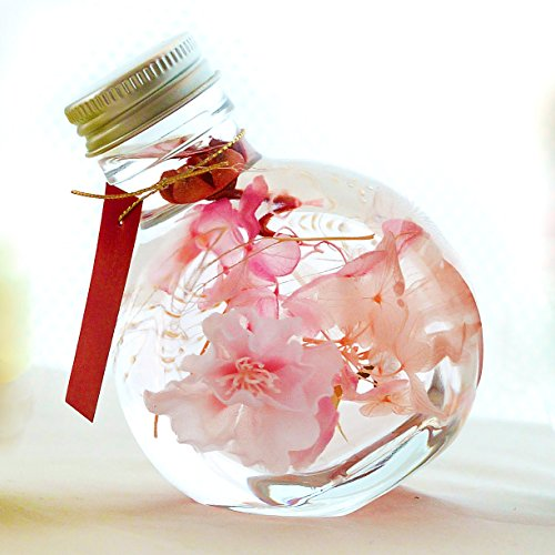 ハーバリウム『花屋が作るファンタジーハーバリウム』プリザーブドフラワー 16時〆即日発送(日曜除く),さくらピンク -