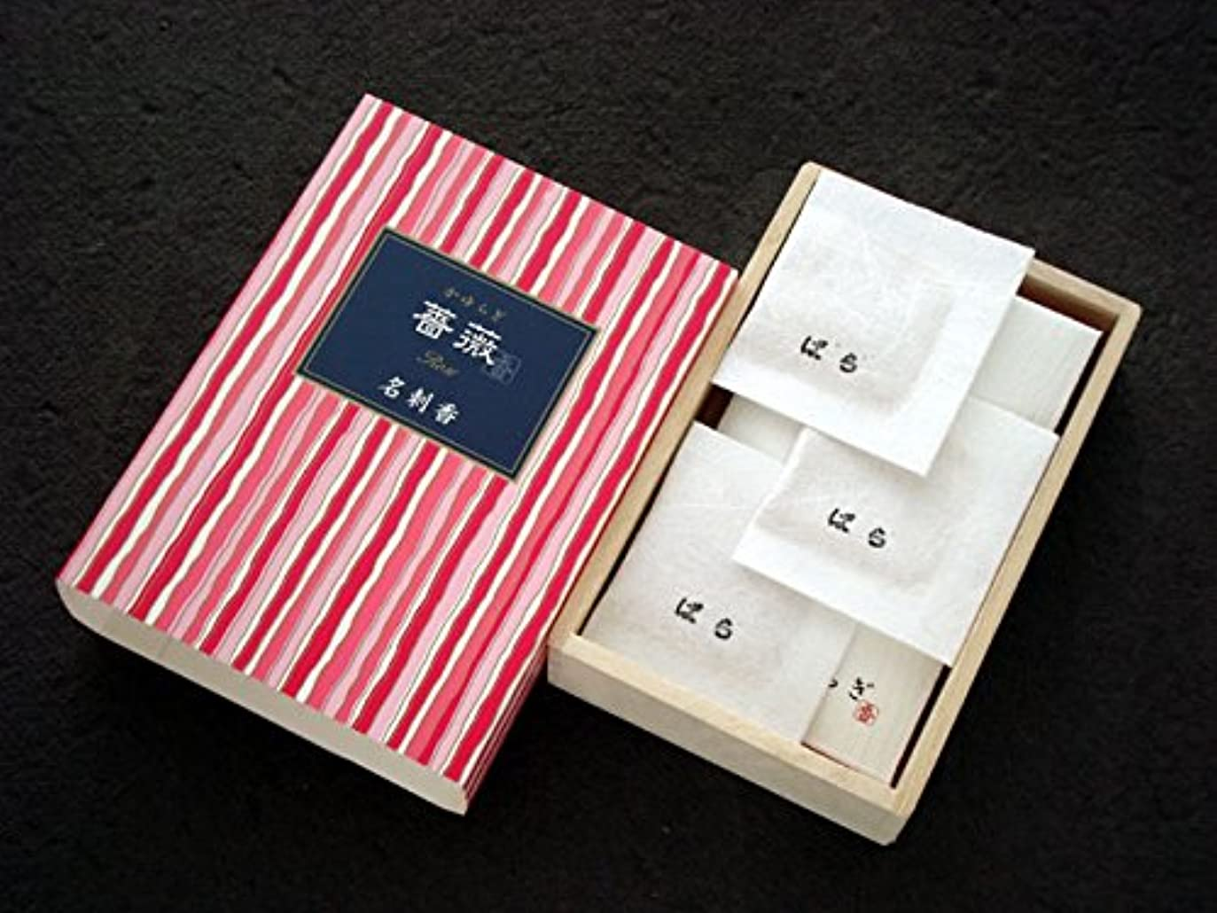 出撃者舌アラートかゆらぎ 薔薇(ばら) 名刺香 桐箱6入