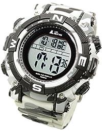 [ラドウェザー] パワー ソーラー腕時計 ミリタリー アウトドア スポーツ サバゲー/ サバイバル デュアルタイム ウォッチ