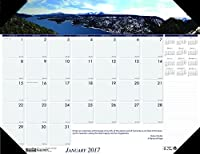House of Doolittle 2017 Monthly Desk Pad Calendar Earthscapes Mountains 18.5 x 13 (HOD1766-17) [並行輸入品]