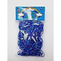 [Artasy ™][並行輸入品] DIY 8段カラーゴムバンドブレスレット (ブルー x パープル) Loom Bands refill Pack - (600) rubber ring Color: Blue X Purple