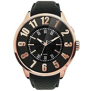【ROMAGO DESIGN】 ロマゴ デザイン RM007-0053ST-RG 腕時計 ヌメレーションシリーズ  ビッグフェイス ミラーウォッチ