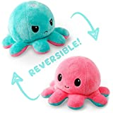 Tee Turtle Octopus Plushie, Aqua and Light Pink