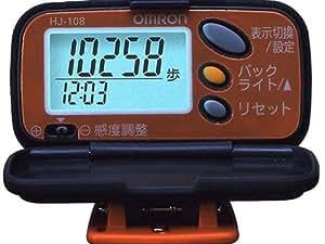 オムロン(OMRON) 歩数計 ヘルスカウンタ ステップス パンプキンオレンジ HJ-108-D