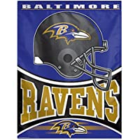 Baltimore Ravens NFLヘルメット&ロゴ27 x 37インチ垂直フラグ