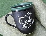 Angelic(エンジェリック) 名入れ 有田焼 陶器 取っ手付ライン マグカップ 単品 (緑)