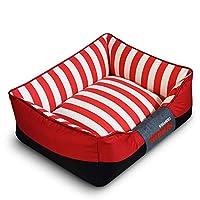 Triplsun オックスフォード布犬用ベッド暖かくて快適な噛み付き防止ペットマットレスラウンジスクエア