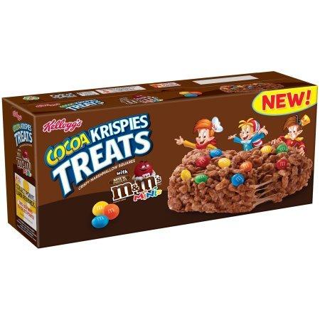 Rice Krispies Treats, Chocolate with M&Ms Minis ライスクリスピーズ、チョコレート、M&Msミニ [並行輸入品]