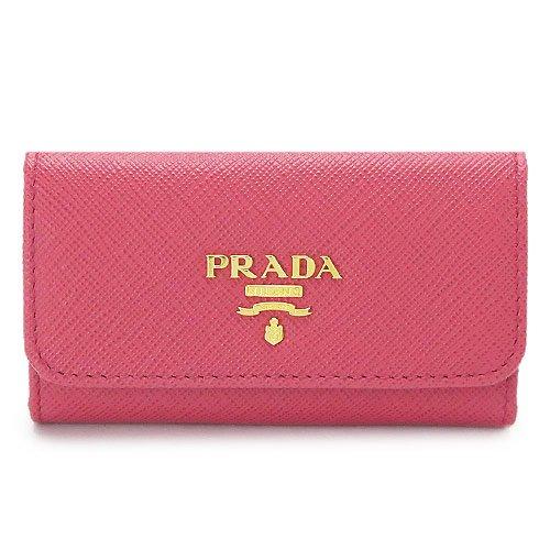 (プラダ)PRADA キーケース 1PG222 QWA F0505/SAFFIANO METAL PEONIA サフィアーノメタル 型押しレザー 6連フック ペオニア [並行輸入品]