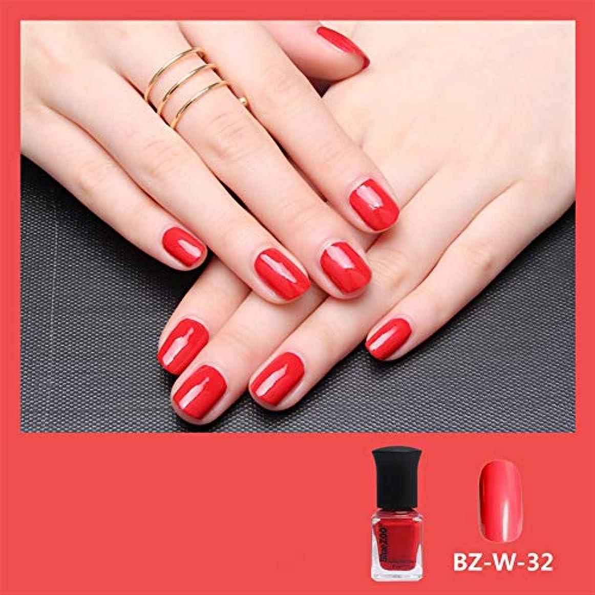 精巧なカビきちんとしたシャイニーネイルポリッシュジェル水溶解性カラフルな漆ワニスネイルアートDIY4色6ml (赤)