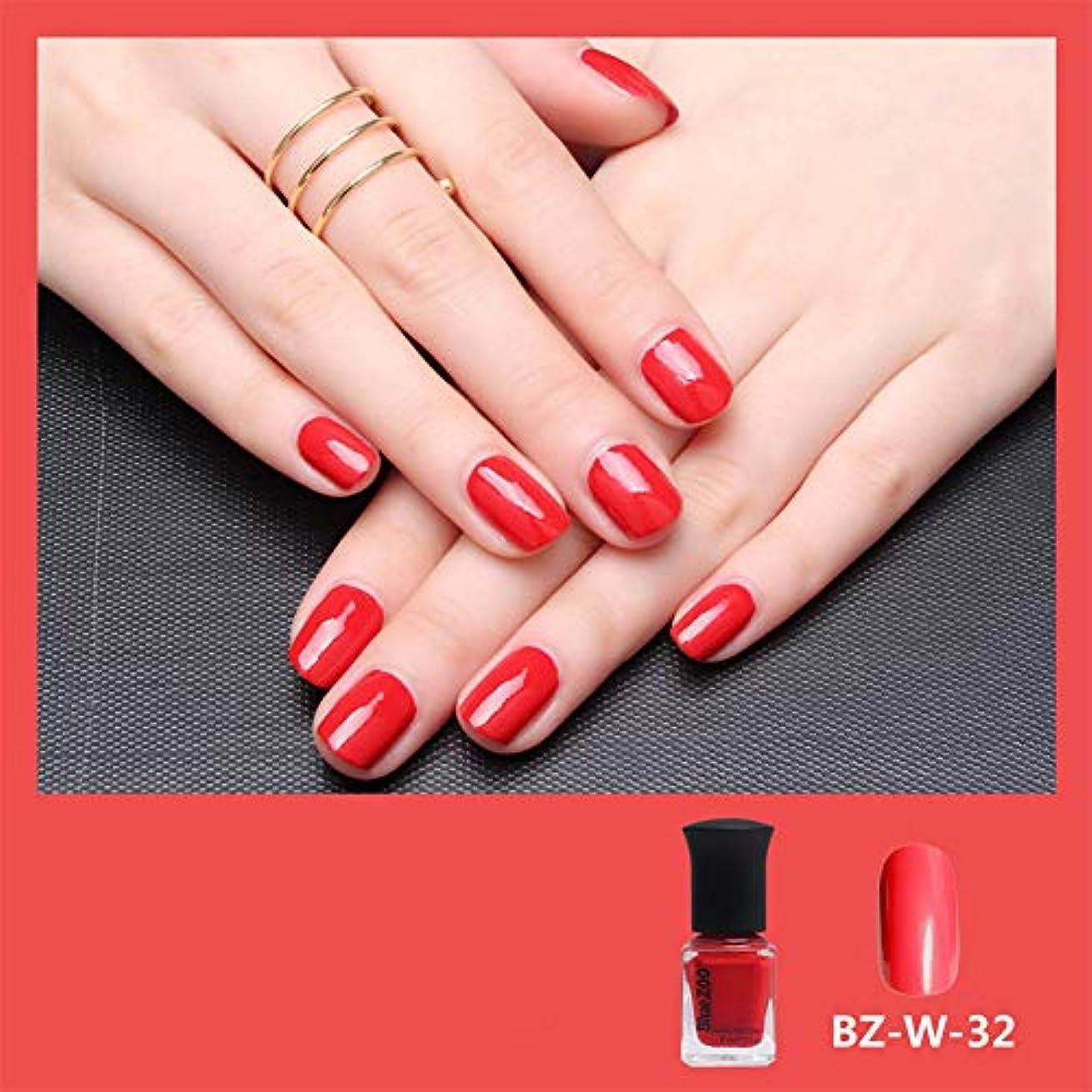 十分ではないクラックポットブリッジシャイニーネイルポリッシュジェル水溶解性カラフルな漆ワニスネイルアートDIY4色6ml (赤)