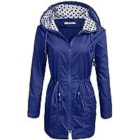 AL'OFA Waterproof Lightweight Rain Jacket Active Outdoor Hooded Raincoat for Women