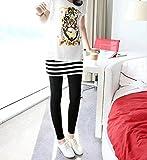 [笑顔一番] マタニティ ウェア 可愛い スカート 付き レギンス 9分丈 一体型 レギパン スキニー パンツ 美脚 美尻 スタイル ウエスト 調整可能 で 妊婦初 から 産後 まで [A178-09]