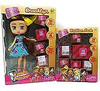 (Brooklyn + Bonus) - Boxy Girls Brooklyn 20cm Doll with 4 Surprise Packages (Brooklyn Bundle)