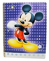 Disney 's Mickey Mouse Winking Face Kidsスパイラルノート( 50シート)