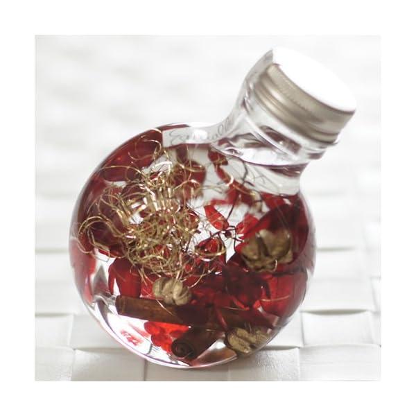 ハーバリウム 丸ボトル (ボルドー)の商品画像