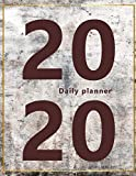 Daily Planner: Large, 1 day per page. Daily Schedule, Goals, To-Dos, Assignments and Tasks. Includes Gratitude section, Meal planner, Mood and Water intake trackers. 11.0' x 8.5'. (Letter) (Abstract, modern design, big numbers. Soft matte cover).