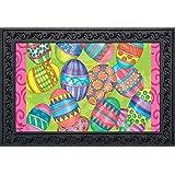 "Briarwood Lane Easter Eggs Holiday Doormat Decorated Eggs Indoor Outdoor 18"" x 30"""