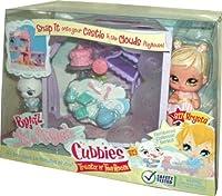 Bratz Lil Angelz Numbered Collector Series Cubbies Treatz n' Tea Room Set with Krysta (# 817), White Ballerina Pig (#
