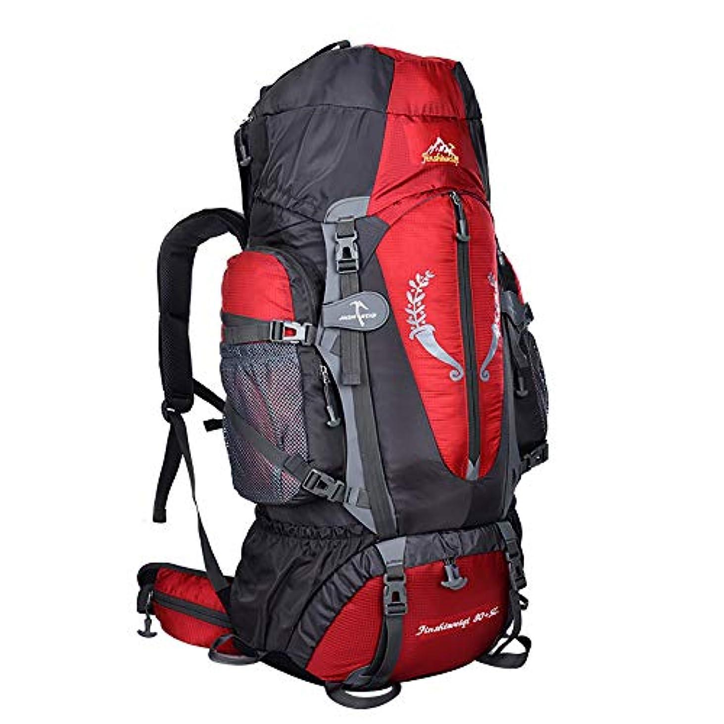ポータブル俳句適度な85L 登山リュックマウンテンデイパック YOKINO 大型旅行バッグ 拡張可能 超大容量 広口開口仕様 防水耐震 タクティカル アルパインパック リュックサック キャンプ トレッキング 旅行 アウトドア