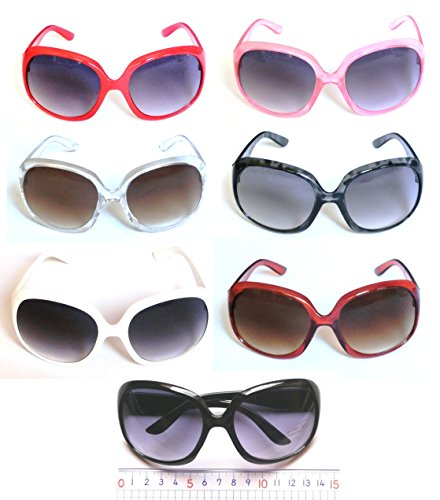 enecleaning サングラス 大きいフレーム ファッション 小顔効果 メガネケース付 UV400 紫外線 UVカット 偏光