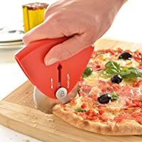 Retractable Pizza Cutter - Ergonomic Design Creates an Effortless Precise Cut Each Time by Mastrad (Red)