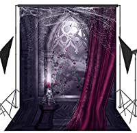 OUYIDA TP17 ハロウィンテーマ 6x9フィート 絵入り布 シームレス カスタマイズされた写真 背景幕 背景 スタジオ小道具