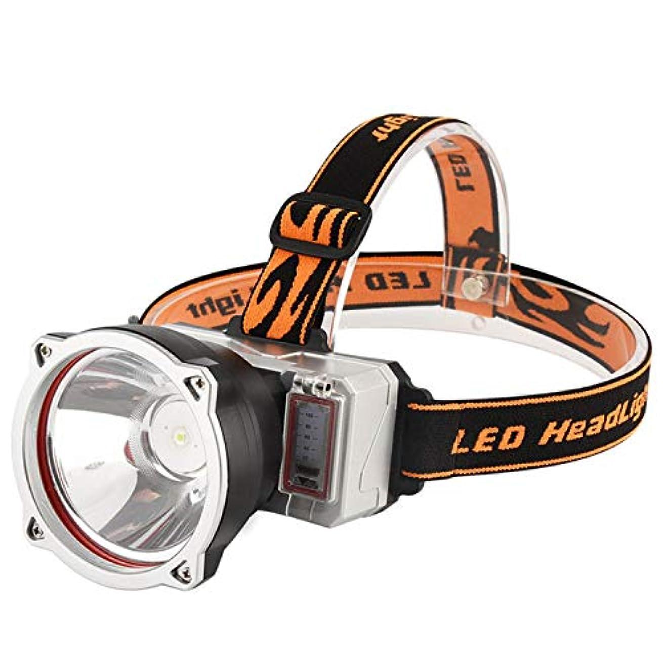 ジャンプする全滅させるトランク強力なヘッドライト、ハイパワー充電、屋外用パワーディスプレイ、白色LEDフィッシングライト