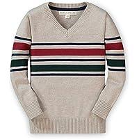 Hope & Henry Boys' Long Sleeve V-Neck Sweater