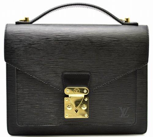 [ルイ ヴィトン] LOUIS VUITTON エピ モンソー ノワール ゴールド金具 黒 ブラック ハンドバッグ セカンドバッグ M52122 [中古]