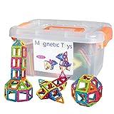 磁石ペース66モデルDIY 子どもおもちゃ 積み木 四角、三角、半圆、扇形 - 創意プレゼント想像力を育てる知育玩具
