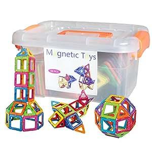 磁石ペース66モデルDIY 子どもおもちゃ 積み木 四角、三角、半圆、扇形 - 創意プレゼント想像力を育てる知育玩具 | 積み木 | おもちゃ 通販