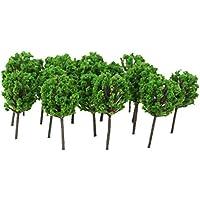 【ノーブランド品】1/300サイズ 鉄道模型用 樹木 (ライトグリーン) 50本