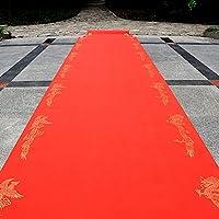 WENZHE 敷物 ラグ カーペット カーペットLongfeng印刷ウェディングレッド不織布厚さ0.3mm、幅1m、長さ10/20 / 50m ( サイズ さいず : 1*50m )