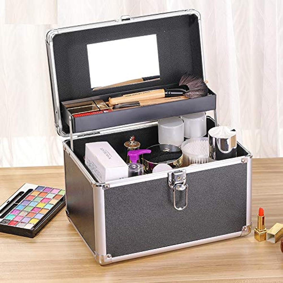 冷える暖かさステレオタイプKRECOO コスメボックス スライドトレイ メイク用品収納 プロ仕様 小型 化粧箱 化粧品 ジュエリー ネイルカラー メイク道具入れ 鍵付き コンパクト