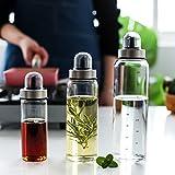 オイルボトル 調味料入れ 調味料容器 スパイスボトル 調味料ボトル 防塵高硼珪酸ガラスオイルボトル,500ml,1パック