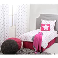 Bacati Stars Muslin 4 Piece Toddler Bedding Set Pink [並行輸入品]