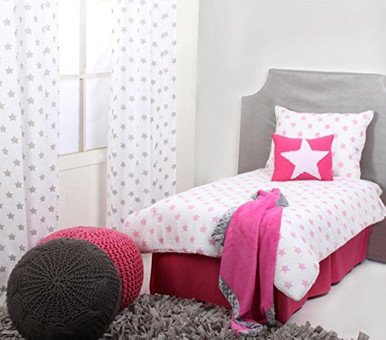 Bacati Stars Muslin 4 Piece Toddler Bedding Set Pink [並行輸入品]