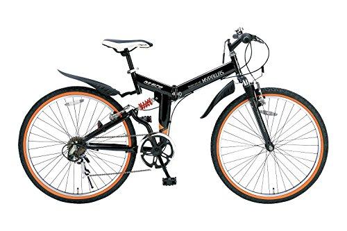 My Pallas(マイパラス) 折りたたみ自転車 ATB M-670-BK 26インチ 6段変速 Wサス ブラック